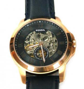 Reloj automático maquinaria vista marca Fossil color bronce - Comprar online Precio 220€ euros