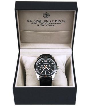Reloj cronografo de pulsera con esfera negra marca Spalding&Bros - comprar online precio 297€ euros