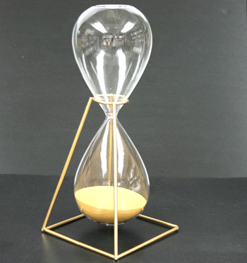 Reloj de arena con soporte metálico - comprar online precio 30€ euros