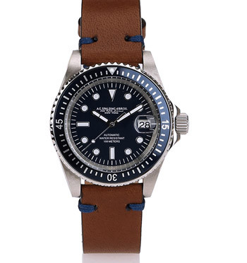 Reloj de pulsera automático con funda de piel para viaje - comprar online precio 369€ euros