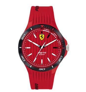 Reloj de pulsera de esfera y correa roja marca Ferrari - comprar online precio 99€ euros