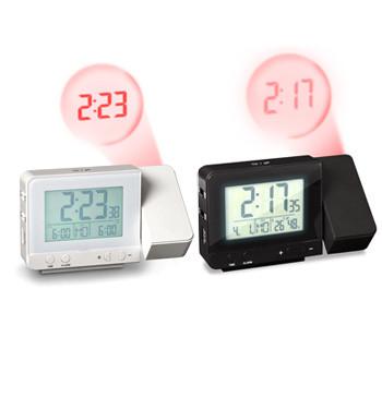 Reloj despertador proyector con termómetro interior y calendario - comprar online precio 32€ euros