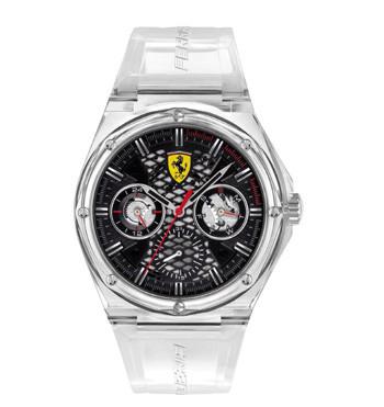 Reloj multifunción con esfera negra y correa transparente - comprar online precio 130€ euros