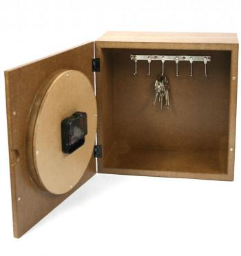 Reloj pared cuelga llaves - Comprar Online Precio 72€ euros - En madera, regalo original