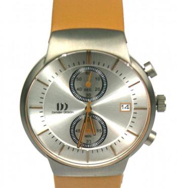 Reloj pulsera hombre de titanio y esfera plateada con detalles naranja marca Danish Design - Precio 257€ euros - Comprar online