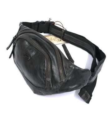 Riñonera porta todo de piel color marrón - comprar online precio 63€ euros
