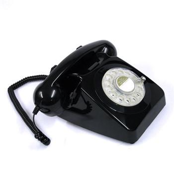 Réplica teléfono antiguo fijo de sobremesa color negro - comprar online precio 90€ euros
