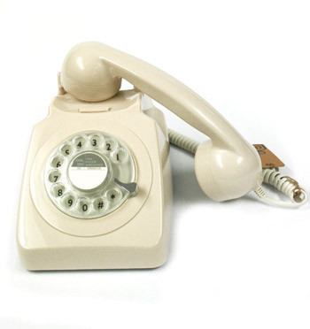 Réplica de teléfono de mesa antigua color beige - comprar online precio 90€ euros