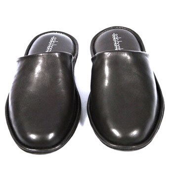 Zapatillas casa hombre destalonadas piel marrón sin cuña - Precio 105€ euros - Comprar online