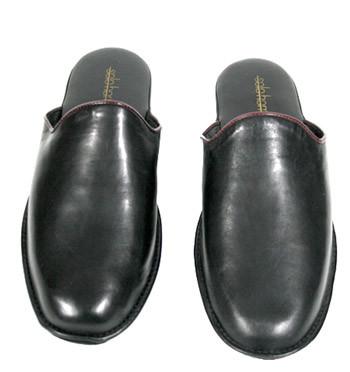 Zapatillas ir por casa en piel color negro - Comprar online Precio 100€