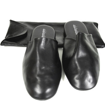 Zapatillas piel de viaje con funda - Precio 129€ comprar online