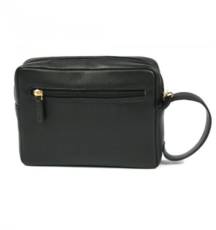 5fc7143e1 Bolso de mano hombre en piel negra o marrón con asa - Comprar online Precio  65€ euros