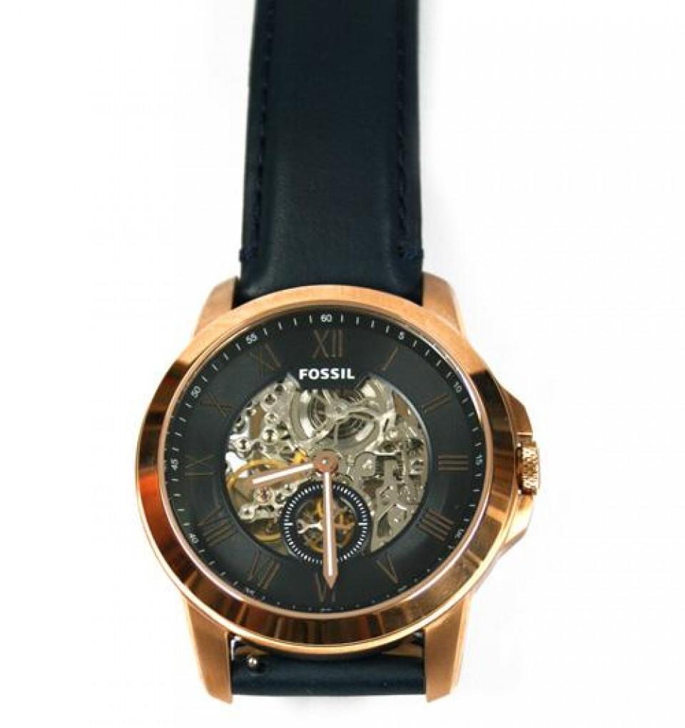 9428aca5a2ed Reloj automático maquinaria vista marca Fossil color bronce ...