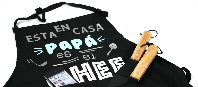 Delantal mandil para papá ¡el Chef! de la casa - comprar online precio 29€ euros