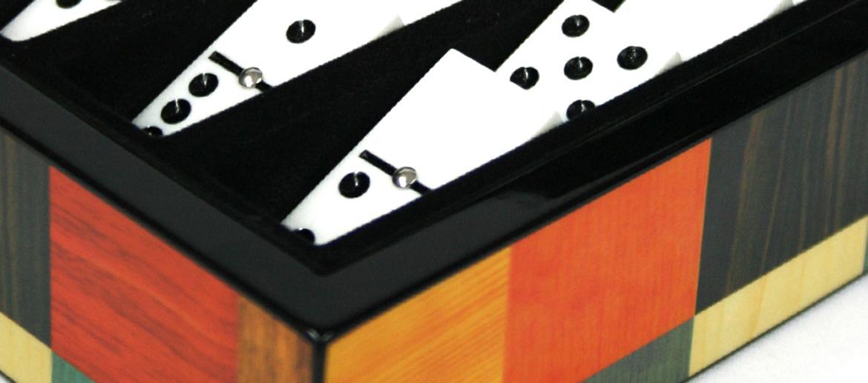 Caja de juego de dominó profesional lacada - comprar online precio 48€ euros