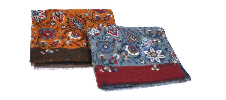 Foulard 100% lana con flores ¡muy ligero! y agradable - comprar online precio 69€ euros