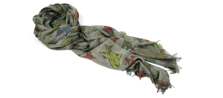 Foulard pañuelo de cuello con motivo de aviones - comprar online precio 128€ euros