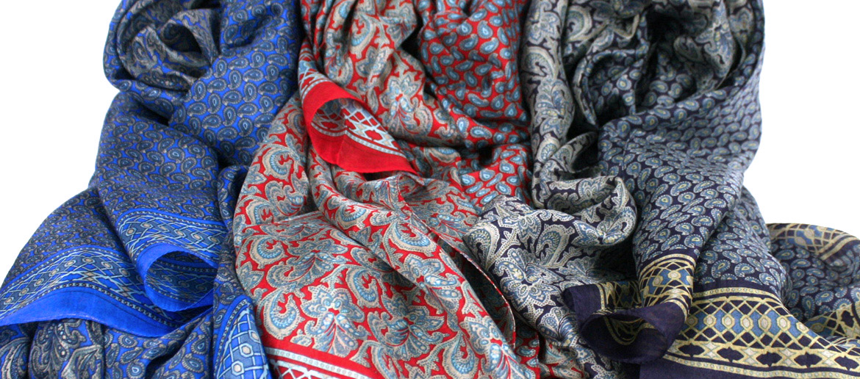 Foulard pañuelo de cuello de seda natural - comprar online precio 40€ euros