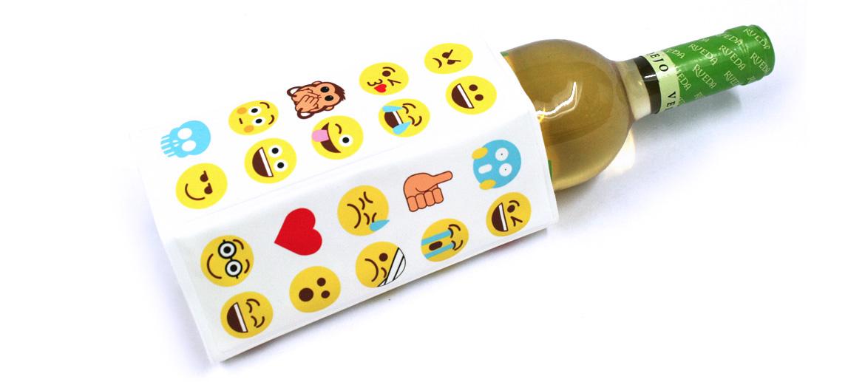 Funda enfriadora de botellas con dibujo de emoticonos - comprar online precio 12€ euros