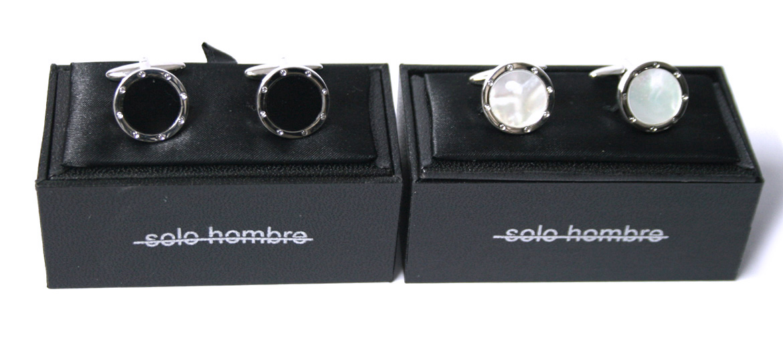 Gemelos de vestir con piedras semi preciosas - comprar online precio 42€ euros