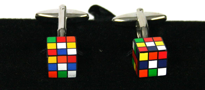 Gemelos con forma de cubo de Rubik - comprar online precio 39€ euros