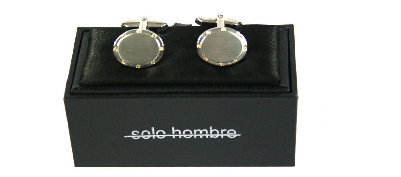 Gemelos ovalados de rodio para eventos o ceremonia - comprar online precio 36€ euros
