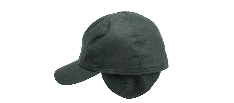 Gorra con visera y orejeras impermeable color negro - Solohombre