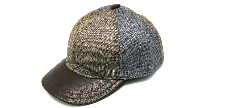 Detalles. Gorra de béisbol en lana con visera de piel marrón - comprar  online precio ... e0fde22698a1