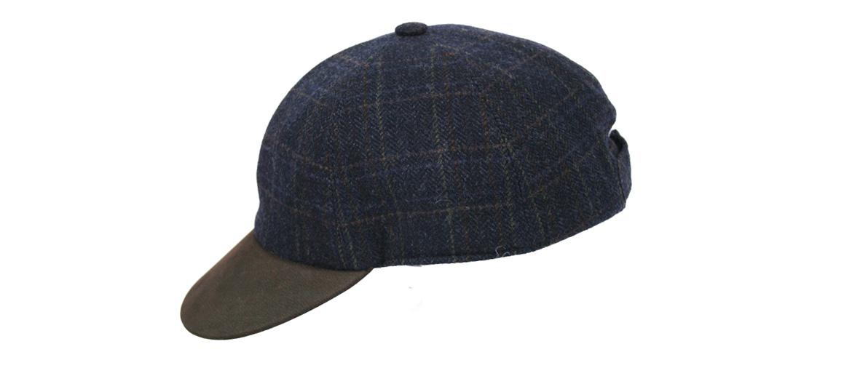 Gorra de béisbol en lana con visera de piel marrón - comprar online precio 69€ euros