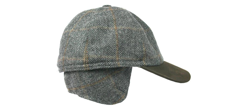 Gorra de béisbol con orejeras de lana y visera de ante - comprar online precio 73€ euros