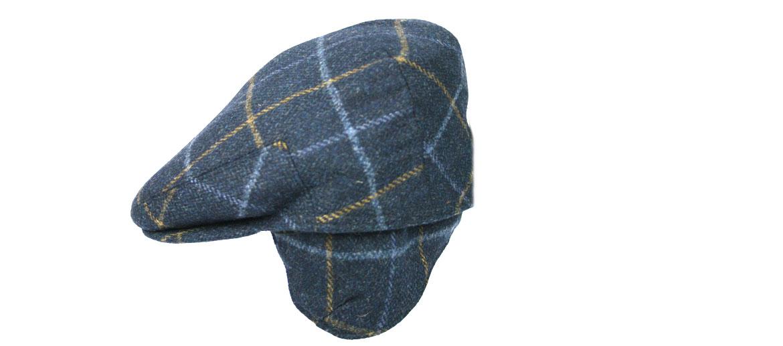 Gorra con orejeras para ir ¡calentito! de cuadros azul - comprar online precio 75€ euros