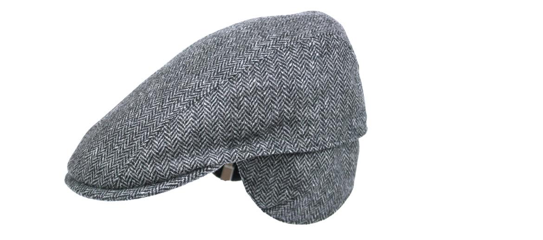 Gorra plana con orejeras para ir ¡calentito! de espiga gris - comprar online precio 79€ euros