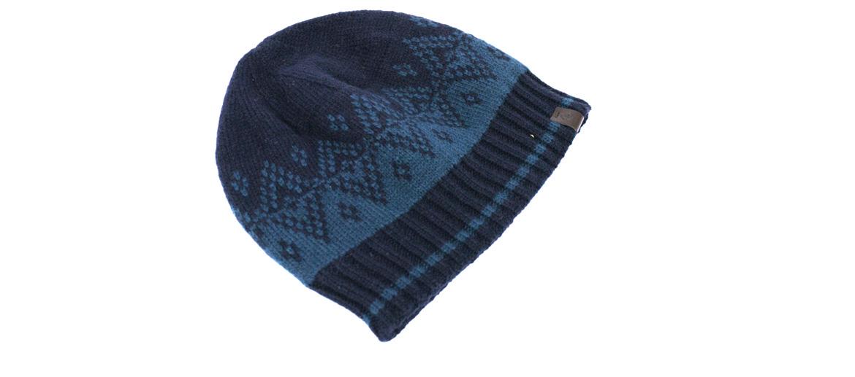 Gorro de punto azul con forro polar para el frío - comprar online precio 20€ euros
