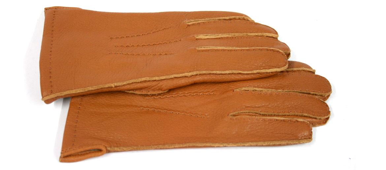 Guantes piel de ciervo color habana forro lana - comprar online precio 63€ euros