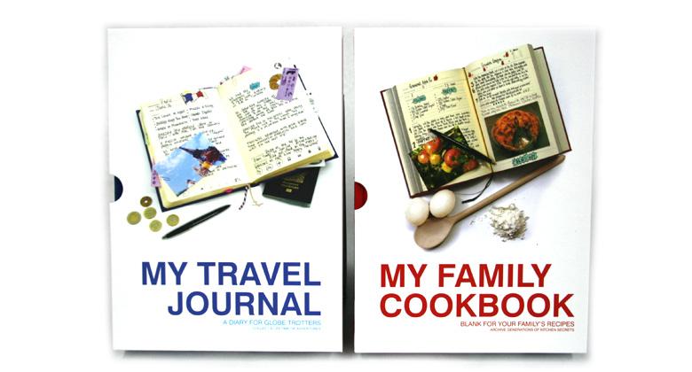 Libro para escribir tus viajes y  recetas de la abuela - comprar online precio 28€ euros