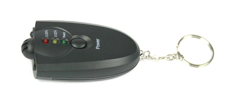 Llavero alcóholimetro con linterna de Led - comprar online precio 12€ euros