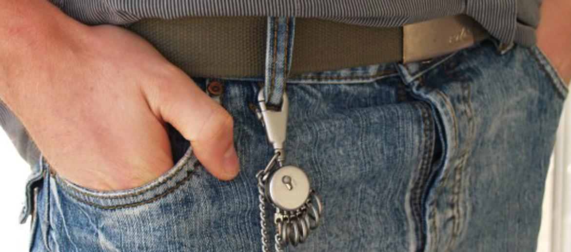 Llavero mosquetón para la trebilla del pantalón o para colgar en tu mochila - comprar online precio 20€ euros