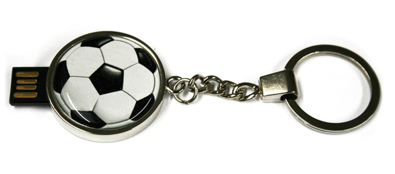 Llavero y pendrive de 16 Gigas, motivo fútbol