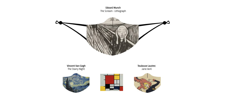 Mascarilla lavable con dibujo de cuadro de pintor famoso ¡genial! - comprar online precio 9€ euros