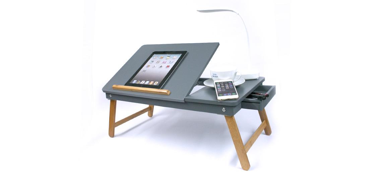 Mesa atril plegable para portátil, tableta, lectura o lo que se te ocurra color gris - comprar online precio 68€ euros
