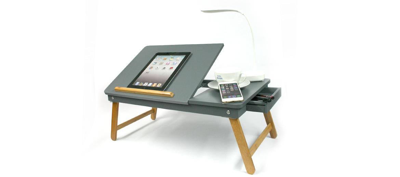 Mesa atril plegable para portátil, tableta, lectura o lo que se te ocurra color gris - comprar online precio 59€ euros