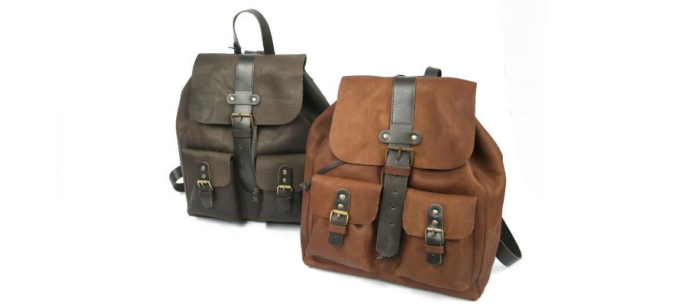 Mochila vintage tipo Indiana Jones de piel - comprar online precio 148€ euros