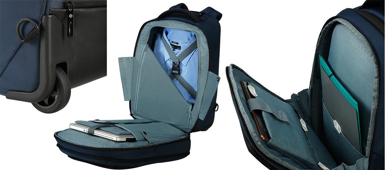 Trolley mochila para viajes de trabajo marca Samsonite