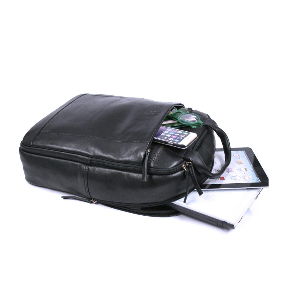 Mochila de ciudad compacta y práctica para trabajo tamaño grande color negro - comprar online precio 189€ euros