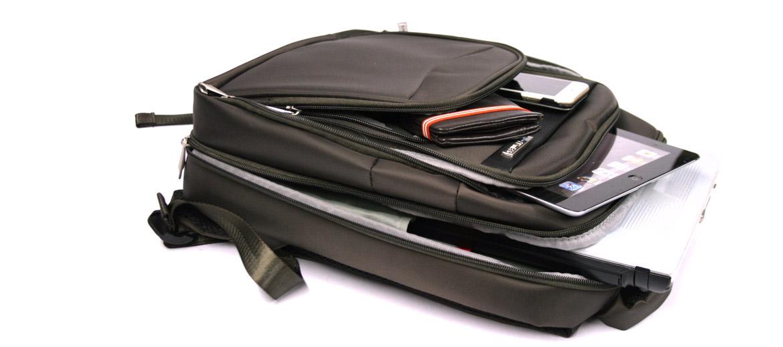 Mochila de Nylon color marrón para portátil de 16 pulgadas - comprar online precio 75€ euros