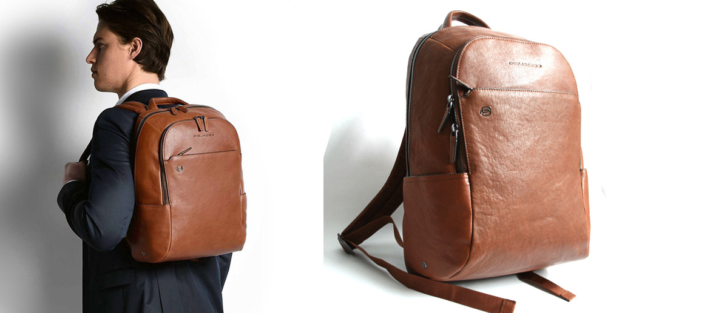Mochila de piel para portátil 10,5 pulgadas, marca Piquadro - comprar online precio 280€ euros