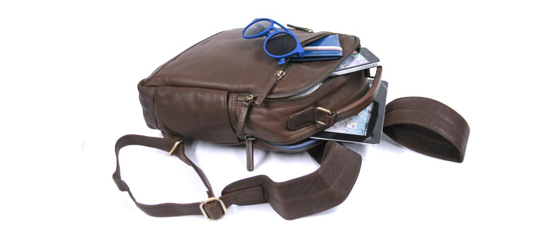 Mochila de vestir en piel marrón - comprar online precio 155€ euros