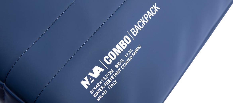 Mochila dos asas marca Nava Design color azul - comprar online precio 120€ euros