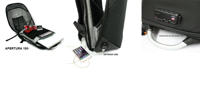 Mochila urbana con cierre de combinación TSA - comprar online precio 69€ euros