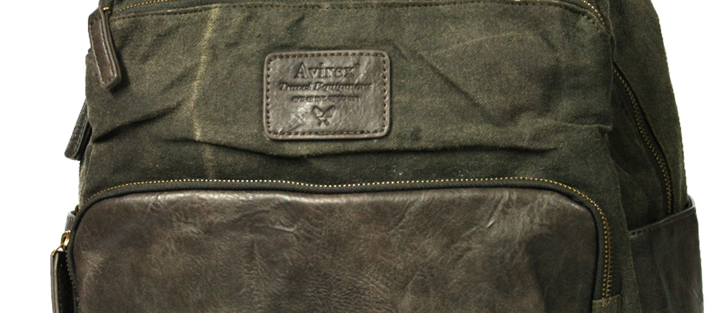 Mochila informal de lona lavada marca Avirex - comprar online precio 95€ euros